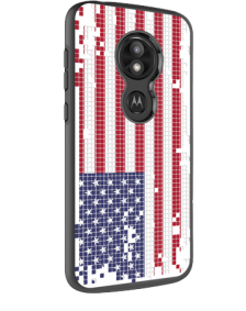 Picture of AMPD Slim Design Series for Motorola  Moto E5 Play, US Flag Pixelate Look