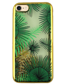 Picture of AMPD Liquid Glitter Design Series for iPhone 7, Palm Trees