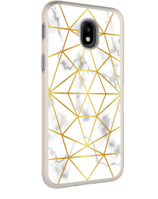 Picture of AMPD Dual Protection Slim Design Series for Samsung Galaxy J3 Achieve, Marble With Gold Pattern