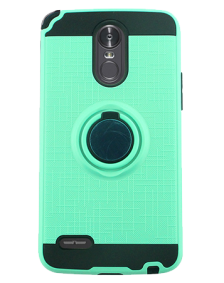 Picture of AMPD Metallic Case With Ring Holder & Vent Mount Base Plate for LG Stylo 3, Teal