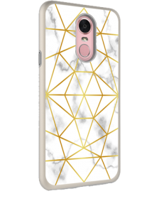 Picture of AMPD Dual Protection Slim Design Series for LG Stylo 4, Marble With Gold Pattern