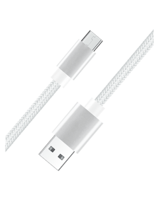 Picture of Micro USB Fast Charge & Data 3 Feet Braided Armor Cable, White
