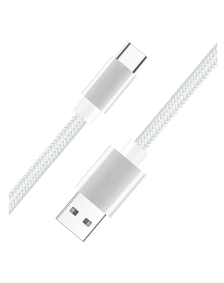 Picture of USB Type C Fast Charge & Data 6 Feet Braided Armor Cable, White