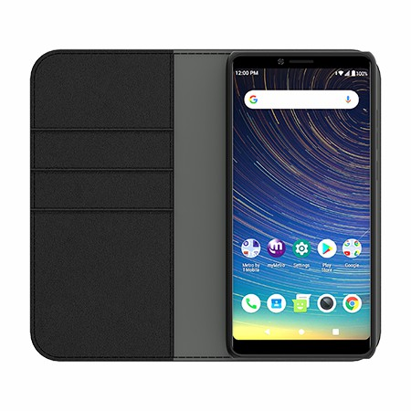 Picture of B-Folio Executive Leather Case for Coolpad Legacy, Black