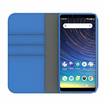 Picture of B-Folio Executive Leather Case for Coolpad Legacy, Blue