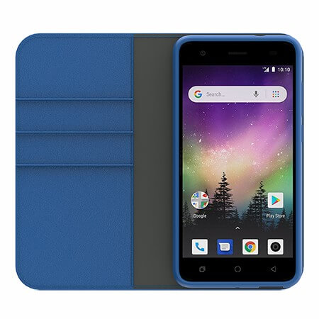 Picture of B-Folio Executive Leather Case for Coolpad Legacy Go, Blue