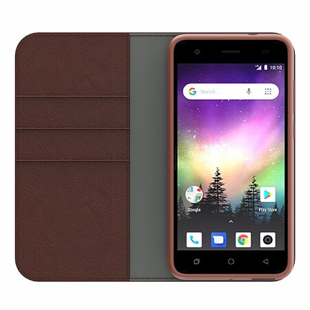 Picture of B-Folio Executive Leather Case for Coolpad Legacy Go, Brown