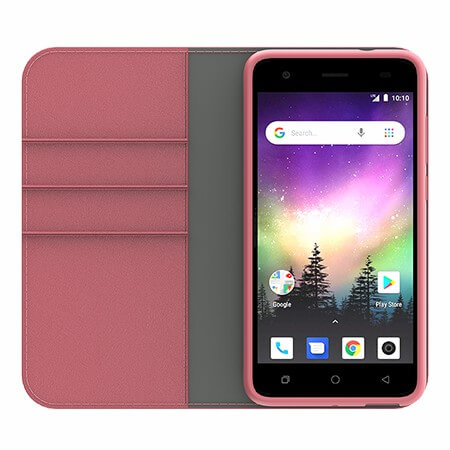 Picture of B-Folio Executive Leather Case for Coolpad Legacy Go, Pink