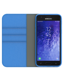 Picture of Samsung Galaxy J3 Achieve B-Folio Executive Leather Case, Blue