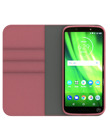 Picture of Motorola Moto G6 Play B-Folio Executive Leather Case, Pink