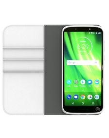Picture of Motorola Moto G6 Play B-Folio Executive Leather Case, White