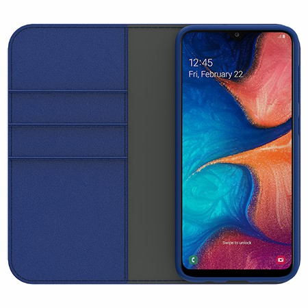 Picture of B-Folio Executive Leather Case for Samsung A20, Blue