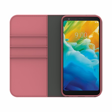 Picture of B-Folio Executive Leather Case for LG Stylo 5, Pink