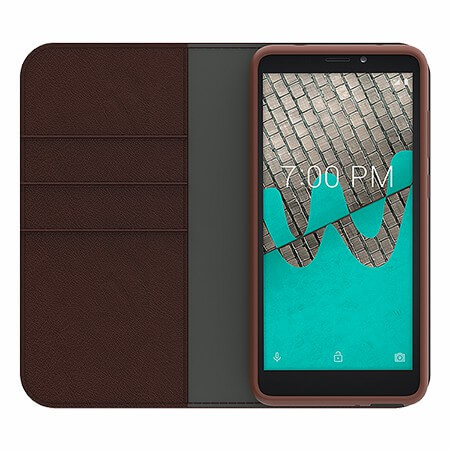 Picture of B-Folio Executive Leather Case for Wiko Ride, Brown