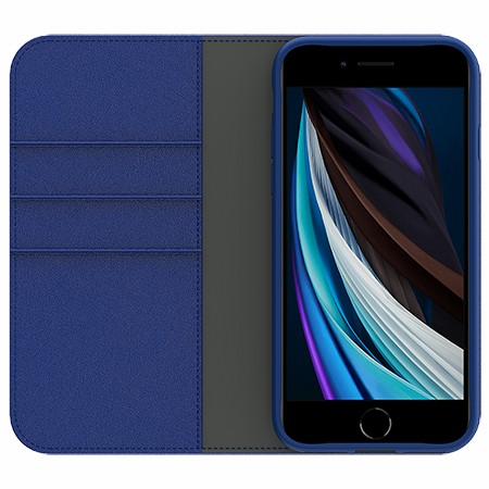 Picture of B-Folio Exe Leather Case for iPhone SE(2020),Blue