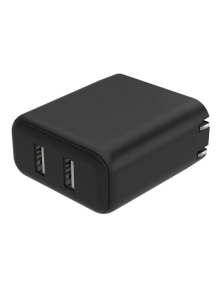 Picture of BM Dual USB Wall Charger with 4.8A Output and Foldable Plug, Black