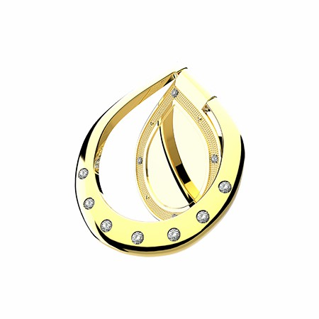 Picture of Brilliant Metallic Ring, Gold