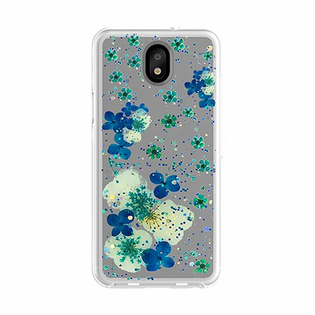 Picture of Botanic Series Case for LG Tribute Royal, Blossom Blue