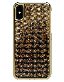 Picture of Apple iPhone X/XS Brilliant Series Case, Gold Rhinestones