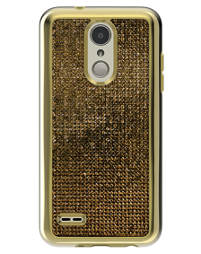 Picture of LG Tribute Dynasty Brilliant Plus Series Case, Gold Rhinestones