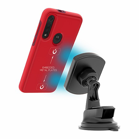 Picture of B-Tact Mag Case for Moto G8 Fast, Red