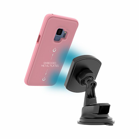 Picture of B-Tact Mag Case for Samsung Galaxy S9, Rose Pink & Pink