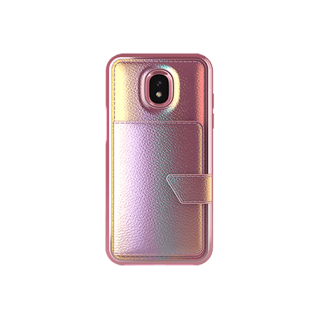 Picture of Compact Mirror Series for Samsung J3 Achieve, Pink Leather