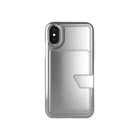 Picture of Compact Mirror Series for Apple iPhone X/Xs, Silver Leather