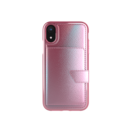 Picture of Compact Mirror Series for Apple iPhone XR, Pink Leather