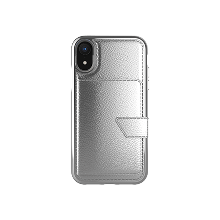 Picture of Compact Mirror Series for Apple iPhone XR Silver Leather