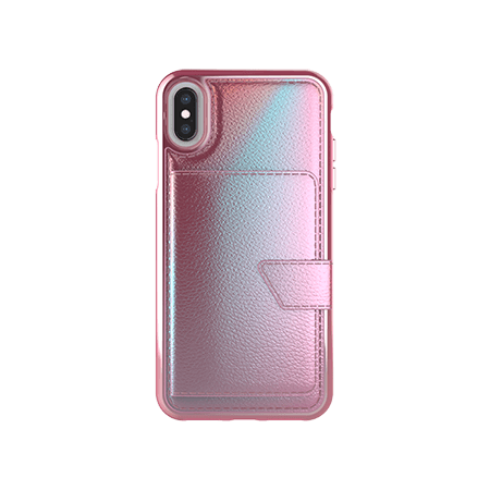 Picture of Compact Mirror Series for Apple iPhone Xs Max, Pink Leather