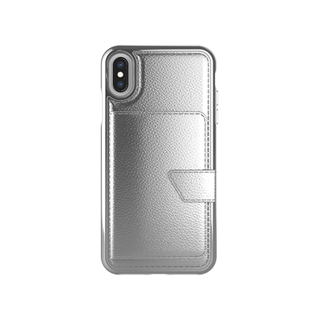 Picture of Compact Mirror Series for Apple iPhone Xs Max, Silver Leather
