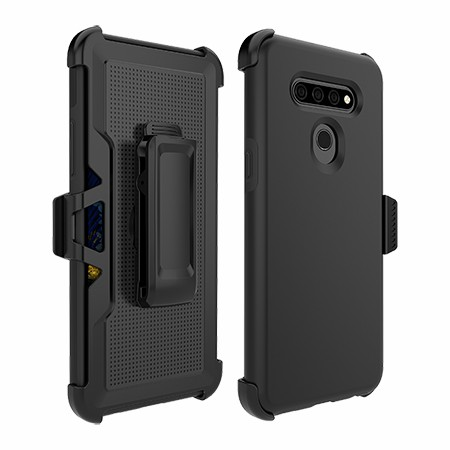 Picture of SYB Dual Shield Case w Holster for LG K51, Black