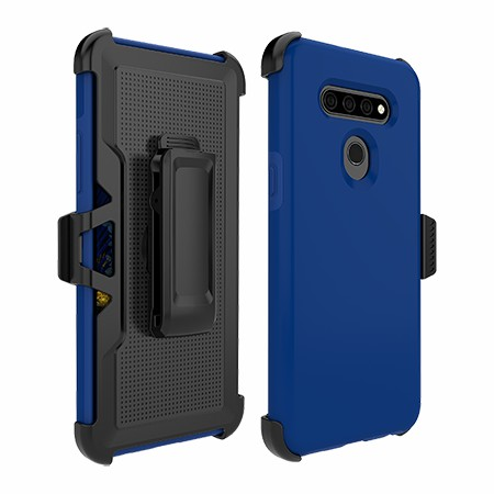 Picture of SYB Dual Shield Case w Holster for LG K51, Reflex Blue