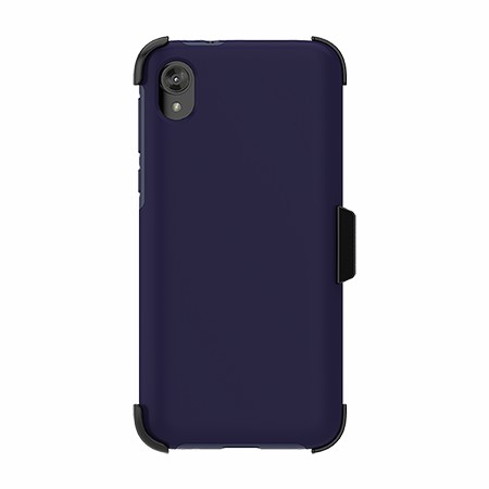 Picture of SYB Dual Shield Case w Holster for Moto E6 Play, DarkBlue