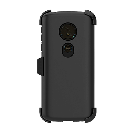 Picture of SYB Dual shield  w Holster for Motorola G6 Play, Black