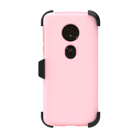 Picture of SYB Dual shield  w Holster for Motorola G6 Play, Pink