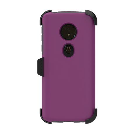 Picture of SYB Dual shield  w Holster for Motorola G6 Play, Purple