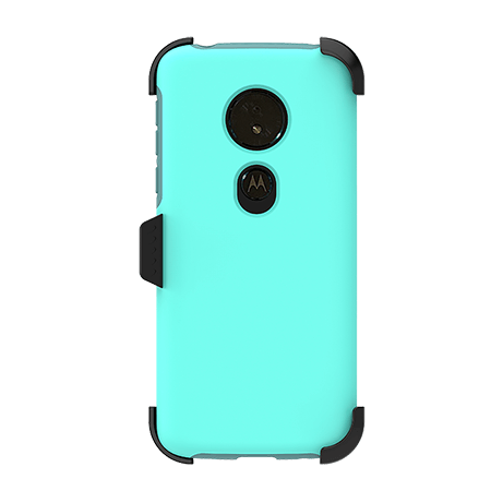 Picture of SYB Dual shield  w Holster for Motorola G6 Play, Teal