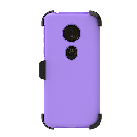 Picture of SYB Dual shield  w Holster for Motorola G6 Play, Violet