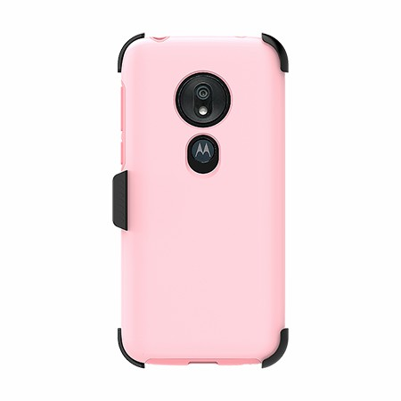Picture of SYB Dual Shield Case w Holster for Moto G7 Play, Pink