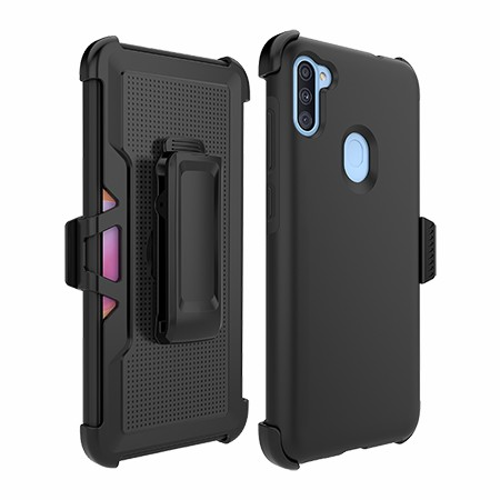Picture of SYB Dual Shield Case w Holster for Samsung A11, Black