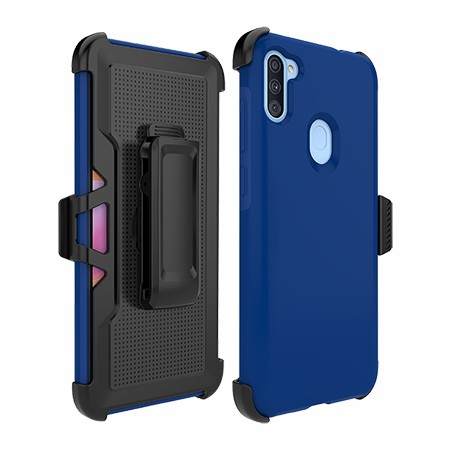 Picture of SYB Dual Shield Case w Holster for Samsung A11, Reflex Blue