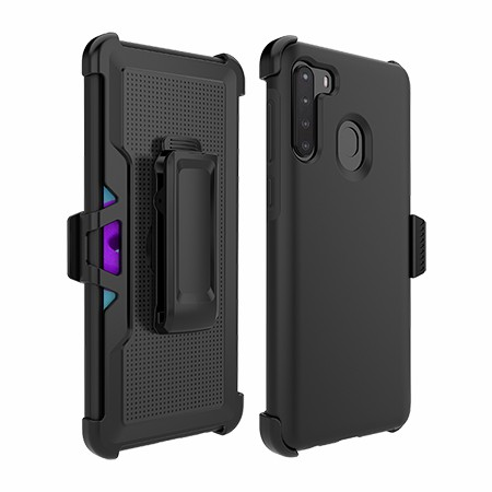 Picture of SYB Dual Shield Case w Holster for Samsung A21, Black