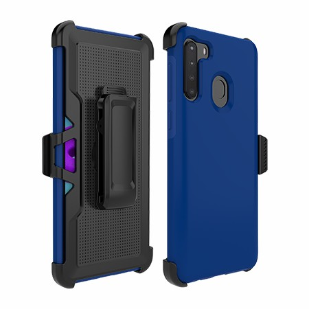 Picture of SYB Dual Shield Case w Holster for Samsung A21, Reflex Blue