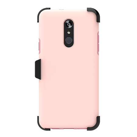 Picture of SYB Dual shield  w Holster for LG Stylo 4/4+, Soft Pink
