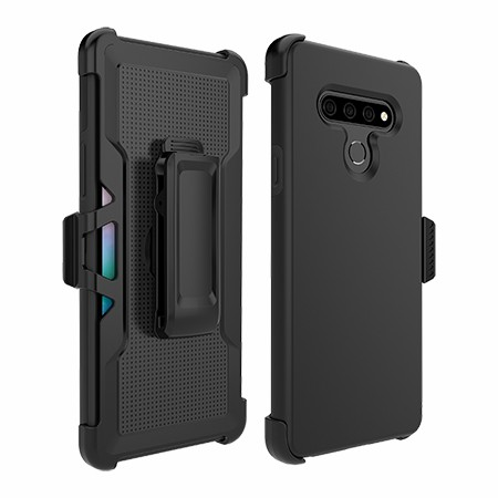 Picture of SYB Dual Shield Case w Holster for LG Stylo 6, Black