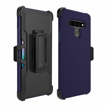 Picture of SYB Dual Shield Case w Holster for LG Stylo 6, Dark Blue