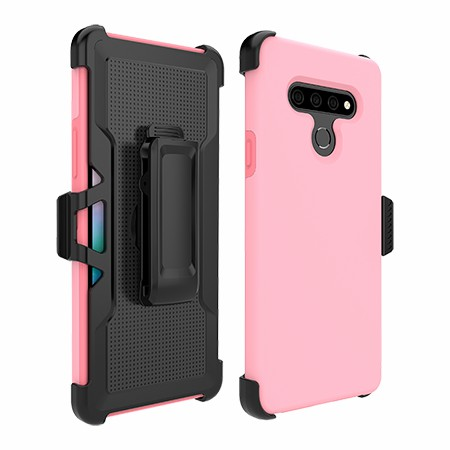 Picture of SYB Dual Shield Case w Holster for Stylo 6, Pink