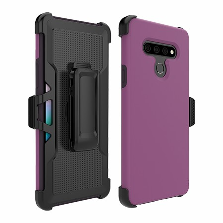 Picture of SYB Dual Shield Case w Holster for Stylo 6, Purple